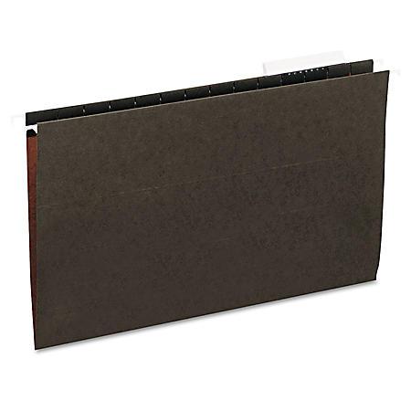 Universal 1/3 Tab Hanging File Folders, 11 Point Stock, Legal, Standard Green, 25ct.