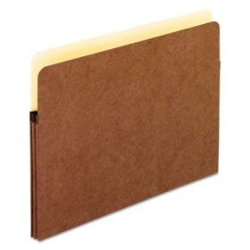 "Universal 1 3/4"" Expanding File Pockets, Straight Tab, Redrope/Manila, 25/Box (Various Types)"