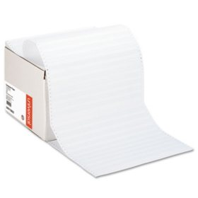 "Universal Green Bar Computer Paper, Perforated Margins, 20lb, 14-7/8"" x 11"",  2400 Sheets"