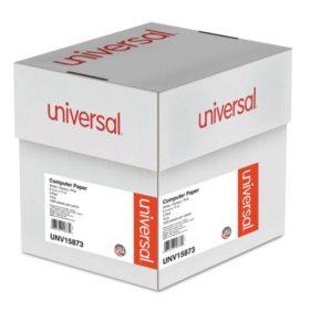 """Universal® Multicolor Computer Paper, 3-Part Carbonless, 15lb, 9-1/2"""" x 11"""", 1200 Sheets"""