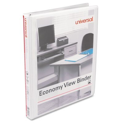 """6 Pack 1/"""" Office Impressions White Economy View Binder Round Ring"""