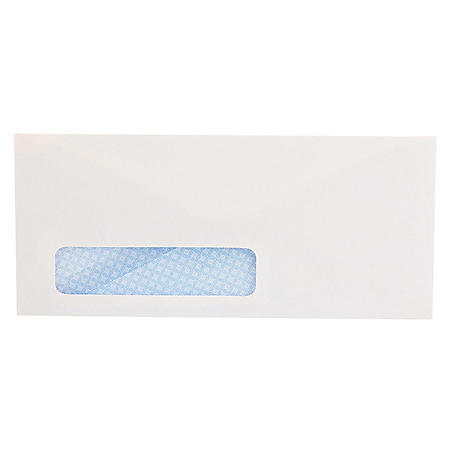 Universal #10 Security Tinted Window Business Envelope, V-Flap, White, 500ct.