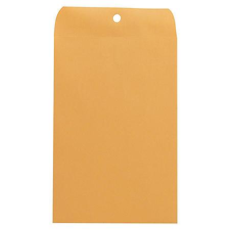 "Universal Clasp Envelope, Side Seam, 28lb, 6"" x 9"", Kraft, 100ct."
