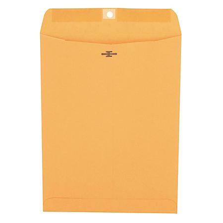 "Universal Clasp Envelope, Side Seam, 28lb, 9"" x 12"", Kraft, 100ct."