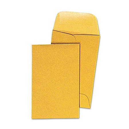 Universal Kraft Coin Envelope, Light Brown, 500/Box (Various Sizes)