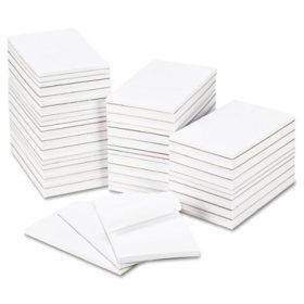 """Universal® Bulk Scratch Pads, Unruled, 5"""" x 8"""", White, 100 Sheet Pads, 64 Pads/Carton"""
