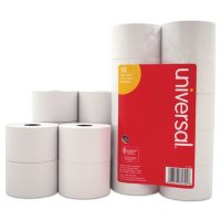 """Universal® 1-Ply Cash Register/Point of Sale Roll, 16 lb., 1/2"""" Core, 1-3/4"""" x138 ft., 10/Pack"""