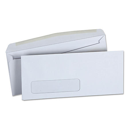 "Universal® Window Business Envelope, Side, #10, 4 1/8"" x 9 1/2"", White, 500/Box"