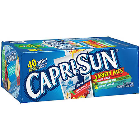 Capri Sun Variety Pack (6 oz. Pouches, 40 ct.)