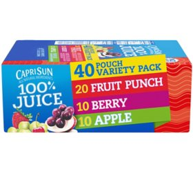 Capri Sun 100% Juice Variety Pack (6oz / 40pk)