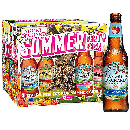 Angry Orchard Hard Cider Kickin' It Gold Cup Variety Pack, Spiked (12 fl. oz. bottle, 12 pk.)