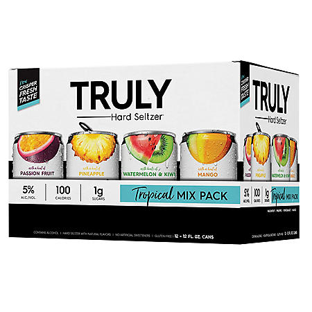 Truly Hard Seltzer Tropical Mix Pack (12 fl. oz. can, 12 pk.)