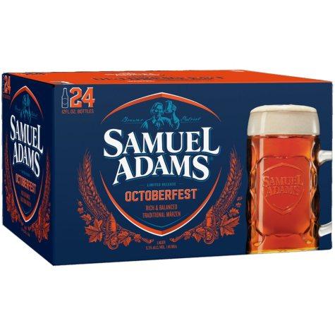 Samuel Adams Octoberfest Beer - 24/12 oz. Longneck Bottles