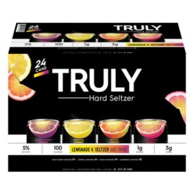 Truly Hard Seltzer Lemonade Seltzer Mix Pack (12 fl. oz. can, 24 pk.)