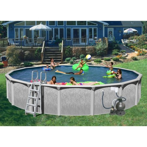 """Rock View 18' x 52"""" Round Deluxe Pool Package"""