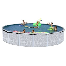 Queen Bay Complete Above Ground Pool Package Sam S Club