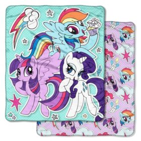 "Hasbro's My Little Pony ""Sticker Pals"" Double-Sided Cloud Throw, 60"" x 70"""
