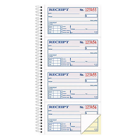 Adams - Wirebound Money/Rent Receipt Books