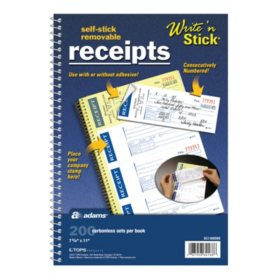 Write 'n Stick Receipt Books - 200 ct. - 3 pk.