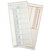 Adams 2-Sided Time Cards - 500 ct.