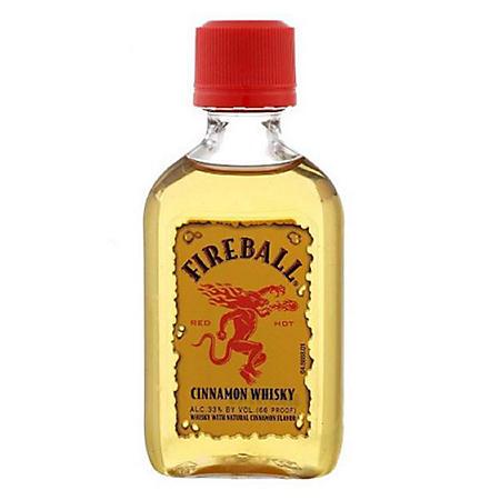 Fireball Cinnamon Whisky (100 ml bottle, 12 pk.)