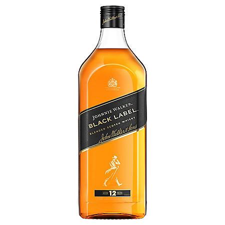 Johnnie Walker Black Label Blended Scotch Whisky (1.75L)