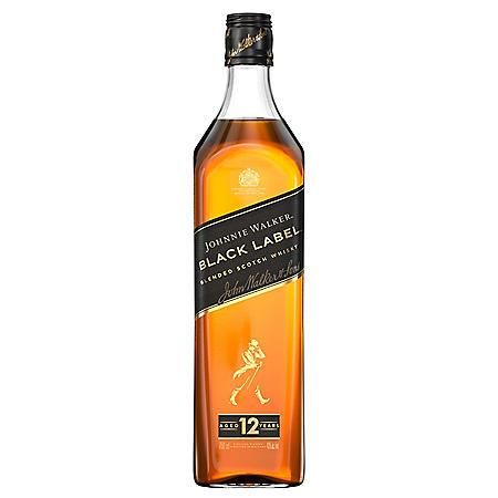 Johnnie Walker Black Label Blended Scotch Whisky (750mL)