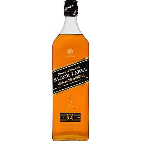 Johnnie Walker Black Label Blended Scotch Whisky (1L)