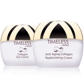 AVANI Dead Sea Anti-Aging Collagen Replenishing Cream and Collagen Eye Cream Treatment Set (1.7 oz., ea.)