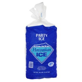 Hawaiian Ice Packaged Party Ice (20 lbs.)