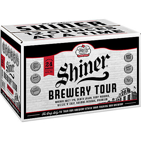 Shiner Brewery Tour Variety Pack Beer (12 fl. oz. bottle, 24 pk.)