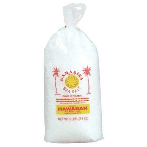 Kamaaina Sea Salt (Fine Grains) - 5 lb. bag