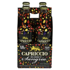 Capriccio Bubbly Sangria (1.5 L bottle, 4 pk.)