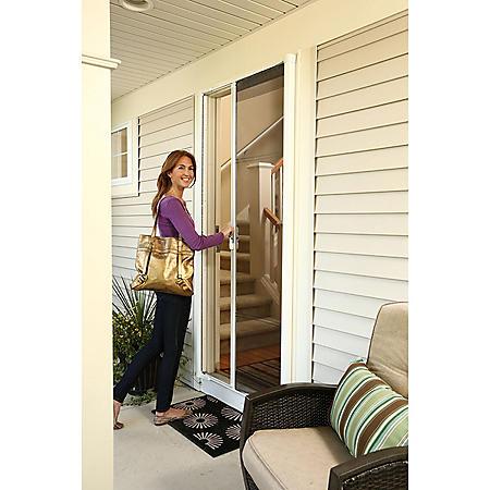 Retractable Screen Door White