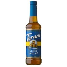 Torani Sugar-Free Classic Hazelnut Syrup (750 mL)