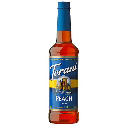 Torani Sugar-Free Peach Syrup (750 mL)