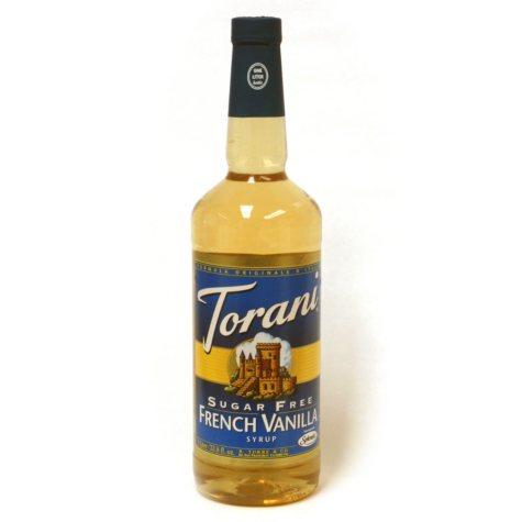 Torani Sugar Free French Vanilla Syrup - 3 pk. - 1 L