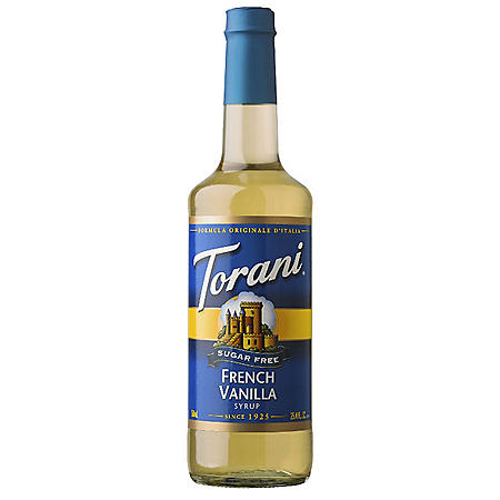 Torani Sugar-Free French Vanilla Syrup (750 mL)