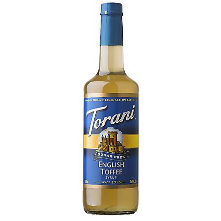 Torani Sugar-Free English Toffee Syrup (750 mL)