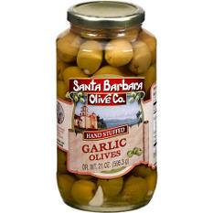 Santa Barbara Olive Garlic Stuffed Olives - 21oz