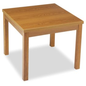 "HON 24"" Laminate Square Occasional Table, Mahogany"