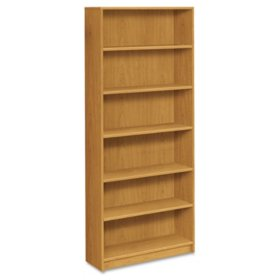 "HON 36"" Wide 1870 Series 6-Shelf Bookcase, Harvest"