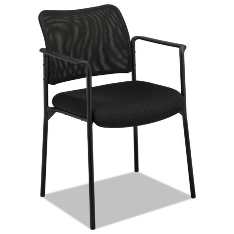 basyx by HON VL516 Stacking Guest Arm Chair, Black