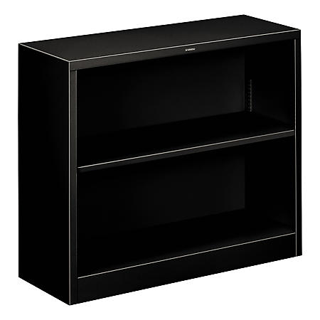 "HON 34 ½"" Wide 2-Shelf Steel Bookcase, Select Color"