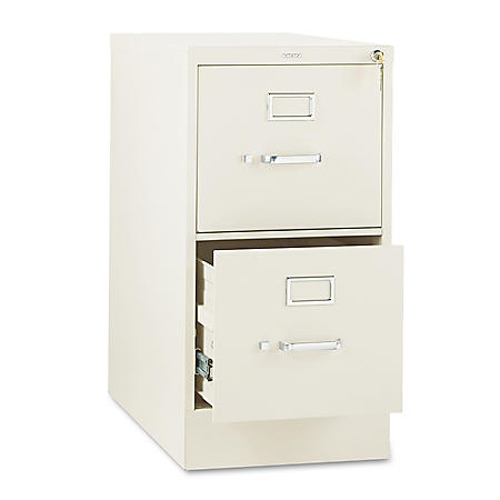 "HON 26 ½"" 310 Series 2-Drawer Letter File Cabinet, Putty"