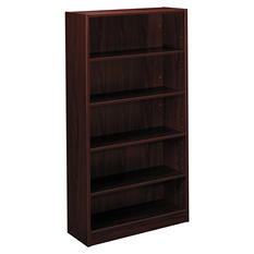 basyx by HON -BL Laminate Series Bookcase, 5 Shelves - Mahogany