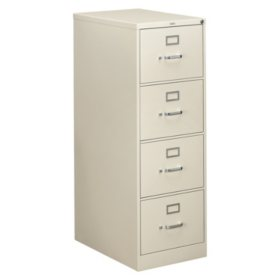 "HON 26 ½"" 310 Series 4-Drawer Legal File Cabinet, Light Gray"