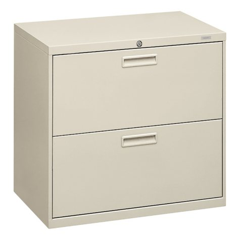 "HON 30"" 500 Series  2-Drawer Letter/Legal Lateral File Cabinet, Light Gray"