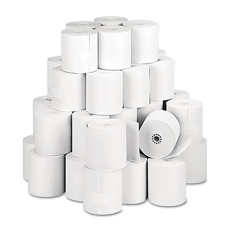 """Iconex Direct Thermal Printing Thermal Paper Rolls, 3.13"""" x 273 ft, White, 50/Carton"""