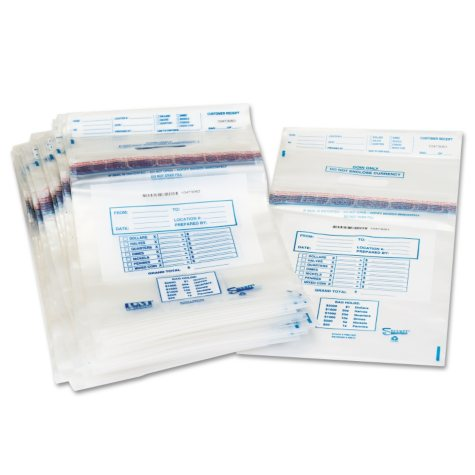 Clear Disposable Plastic Coin Tote,13wx22h,100/bx